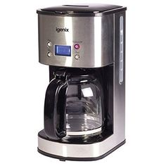 Igenix IG8250 Digital Coffee And Espresso Maker, French Press Coffee Maker, Coffee Brewer, Drip Coffee Maker, Filter Coffee Machine, Coffee Maker Machine, Home Coffee Machines, Coffee Jars