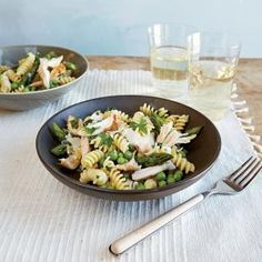Spring pea asparagus and chicken salad