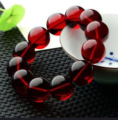 Natural Baltic Amber Pearl Bracelet Blood Bracelet on the Hand Jewelry Healing Amber Bracelet, Healing Bracelets, Pearl Bracelet, Bracelets For Men, Handmade Bracelets, Jewelry Bracelets, Handmade Jewelry, Bernstein, Hand Chain