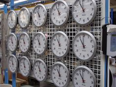 Analogue clocks in Bodet Factory located in Trémentines, Pays de Loire - France.