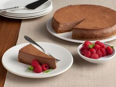 Chocolate Truffle Cheesecake (made with reduced-fat cream cheese)