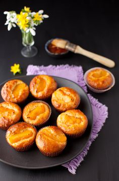 Peach, Oatmeal and Apricot Jam Cupcakes or Muffins, You decide!