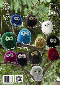 King Cole Tinsel Chunky Owl Pattern 9022