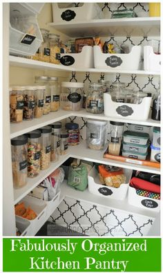 Fabulously organized kitchen pantry :: OrganizingMadeFun.com