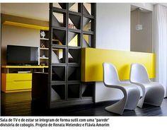 Vistos em muitos prédios e fachadas de casa em Brasília, os cobogós invadem os ambientes internos. De diversos materiais, funcionam como divisórias e dão um charme especial à decoração