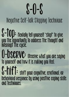 Stop negative self talk,