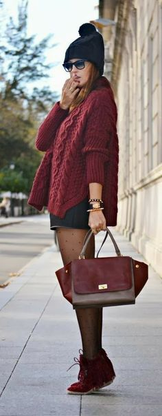 Pretty Woolen Sweater, Shorts, leggings and beenie