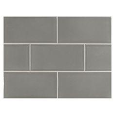 Vermeere Ceramic Tile Lt Charcoal Grey Gloss 3 X 6 Subway