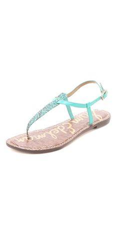 Sam Edelman Gigi Thong Sandals. Live the color for spring/summer.
