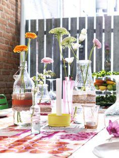 Verão sem flores é Verão incompleto. Dêem às vossas as melhores casas e façam da mesa um jardim.