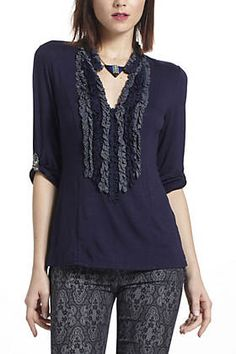 Women's Tops | Anthropologie | Sheer, Printed, Silk, Floral, Lace & Shirting