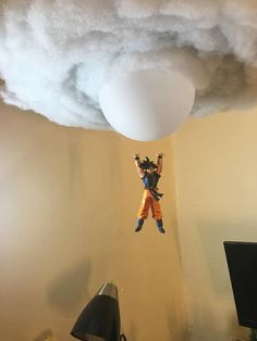 Este artículo no está disponible - You are looking at the newest addition of my Goku Spirit Bomb Cloud Lamp. Although smaller than the - Goku Birthday, Dragon Birthday, Ball Birthday, Dragon Z, Dragon Ball Gt, Cloud Lamp, Gamer Room, Nerd Room, Gaming Room Setup