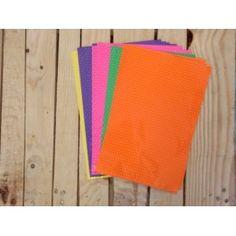 Con estos sobres naranja con estampado confetti tu regalo sera fantástico.