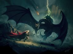 Eowyn and the nazgul by Nick Deligaris : Very impressive picture ! You can even buy a print for your home ^^