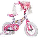 """99.99 Huffy Princess 12"""" Girls BIke She'll be cruisin' like royalty on the Huffy(r) Disney Princess(r) 12"""" girls' bike! The durable steel frame is decorated in an adorable pink and lavender color scheme, accented with pink rims"""