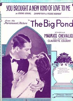 You Brought A New Kind Of Love To Me vintage 1930 sheet music