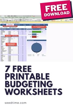 I believe that budgeting should be fun and if done properly, it really makes your life a whole lot more peaceful. And, I want your life to be more peaceful. Start a budget today with these 7 Free Printable Budgeting Worksheets! #budgetingforbeginners #freebudgetingworksheets #budgetingworksheets #budgetingtips #howtobudget #seedtime Printable Budget Worksheet, Monthly Budget Template, Monthly Budget Planner, Budget Spreadsheet, Free Printables, Budgeting Worksheets, Budgeting Money, Financial Tips, Financial Planning