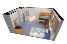 Lister Hall Single Room - 165 Sq Feet Furniture Provided on Best Room Ideas 5245 University Of Alberta, Queen's University, Bedroom Wooden Floor, Master Room Design, Dorm Room Designs, Cool Rooms, Clothing Storage, Desk Chair, Floor Plans