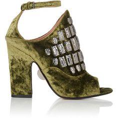 SAMUELE FAILLI Women's Maya Velvet Halter Sandals