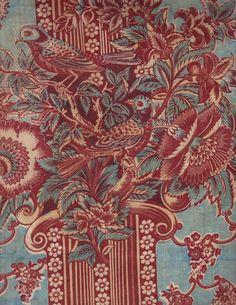 "Pillar print, c. 1825-1835; This piece is 10"" x 13"""