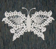 Ravelry: Delicate Crochet Butterfly pattern by Anne Halliday Crochet Butterfly Free Pattern, Crochet Doily Patterns, Thread Crochet, Filet Crochet, Crochet Motif, Irish Crochet, Crochet Crafts, Crochet Projects, Knit Crochet