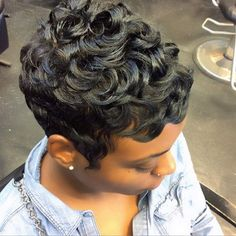 These short black hairstyles are stylish. Short Sassy Hair, Short Curls, Short Hair Cuts, Short Relaxed Hair, Pixie Cuts, Pixie Hairstyles, Pixie Haircut, Trendy Hairstyles, Short Black Hairstyles