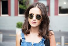 Round Sunglasses and Overalls Street Style via @WhoWhatWear (this one was a late 2014 pronouncement so I'm guessing it will carry over into spring!)