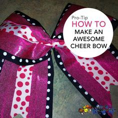 Check out this tutorial on how to make your own cheer bow! #cheerbow #cheer #DIY