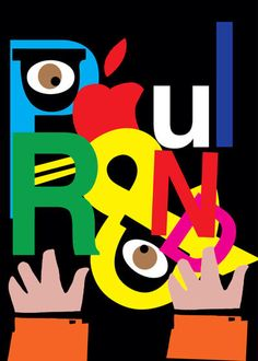 Paul Rand collage cut paper style work