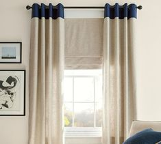 As part of our best-selling curtain collection, there are so many reasons to love the Emery Linen/Cotton Cordless Roman Shade. Formal Living Rooms, Living Room Decor, Living Spaces, Dining Room, Plywood Furniture, Hollywood Regency, Blackout Roman Shades, Linen Roman Shades, Pottery Barn