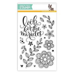 Simon Says Clear Stamps LOOK FOR THE MIRACLES SSS101607