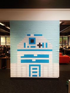 'Star Wars' Post-It Murals Are A Great Way To Waste Time At Work