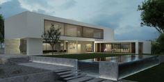 minimalist architecture research Minimal Architecture, Residential Architecture, Contemporary Architecture, Interior Architecture, Pitsou Kedem, Modern Villa Design, Facade Design, Modern Exterior, Architect Design