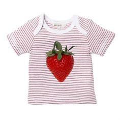 Designer baby girl clothing - Fox & Finch - Baby Strawberry Tee    Price: $AU 27.95  Super sweet and positively irresistible!  http://www.littlebooteek.com.au/ Designer baby girl clothing - Fox & Finch