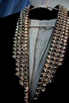 DIY studded blazer