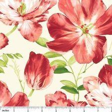 Northcott Splendor Rose Red Pink Green Cream Floral Tone Quilt Fabric 2867-56