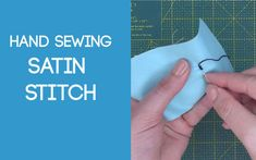 Satin Stitch Daisy Pattern, Sewing Patterns Free, Free Sewing, Make Your Own, How To Make, Sewing Stitches, Satin Stitch, Craft Videos, Softies