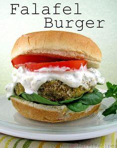 Falafel Burgers with Feta Tzatziki