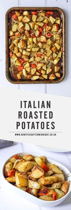 Italian roasted potatoes with onions & tomatoes