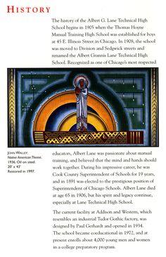Lane Tech Art Collection: New Deal Era Murals Art School, High School, Tech Art, Great Depression, Freshman Year, Mosaics, Murals, Illinois, Prepping