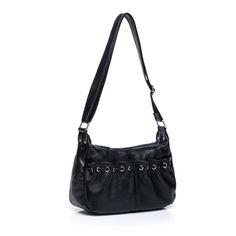 Wholesale Retail Cross Body Bag Cowhide Leather Black RL604