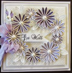 PartiCraft (Participate In Craft): Wednesday Weekly Card Giveaway checkeredboard embossing folder Delicate Daisies die set