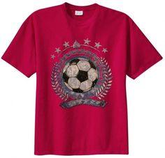 Big Mens Soccer Emblem Graphic T-Shirt