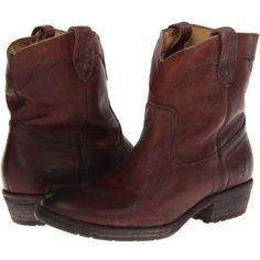 66b2c5981fa Frye Carson Lug Short (Dark Brown Stone Antiqued) Cowboy Boots ( 140) ❤