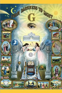 $11 From darkness to light old masonic POSTER. Freemason wall poster