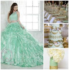 Mint and gold Quinceanera theme ideas | Quinceanera Ideas |