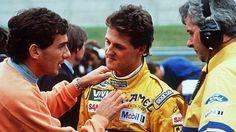 Senna discute com Schumacher na França em 1992