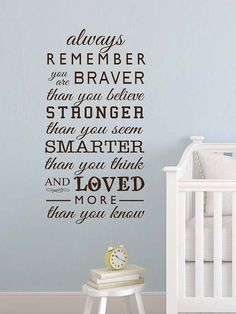 Winnie the Pooh Always remember you are braver by GrabersGraphics, $34.00 you can create this with any color!
