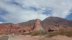 """""""El Obelisco"""", on the way from Cafayate to Salta, Argentina."""