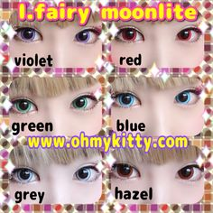 Top choice for cosplayers! Hazel Contacts, Red Contacts, Circle Lenses, Red Blue Green, Aqua, Fairy, Cosplay, Popular, Eyes